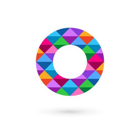 cocao: Letter O mosaic logo icon design template elements Illustration
