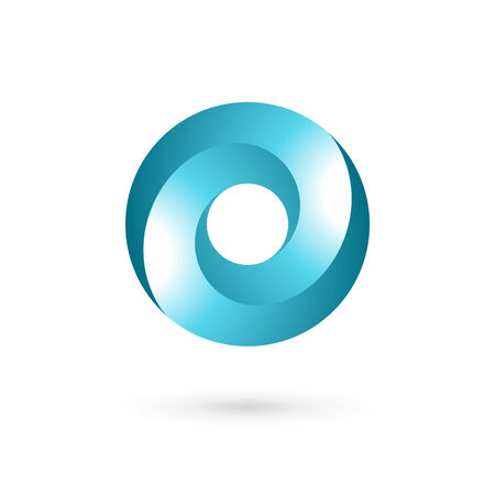 cocao: Letter O icon design template elements Illustration