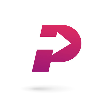 Letter P logo icon design template elements Illusztráció