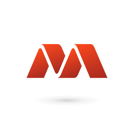 Letter M logo icon design template elements