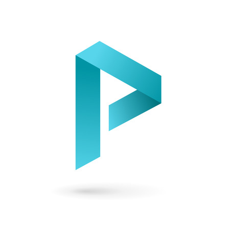 Letter P logo icon design template elements 向量圖像