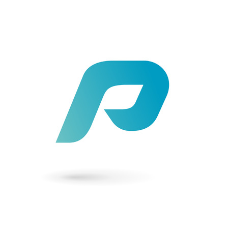 letter p: Letter P logo icon design template elements Illustration