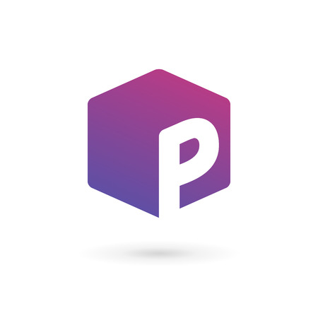 logo letter: Letter P cube logo icon design template elements Illustration