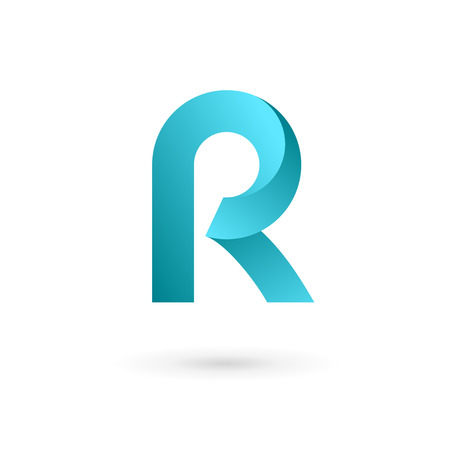 R: Letter R logo icon design template elements Illustration