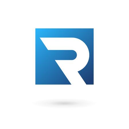 personalausweis: Buchstabe R Logo Icon Design-Vorlage Elemente