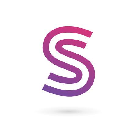 文字 S ロゴ アイコンのデザイン テンプレートの要素  イラスト・ベクター素材