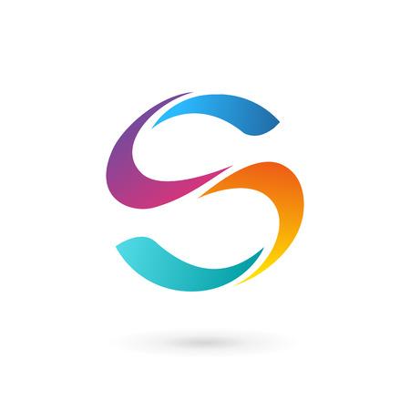 lettre s: Icônes, logos les éléments de modèle de lettre de conception