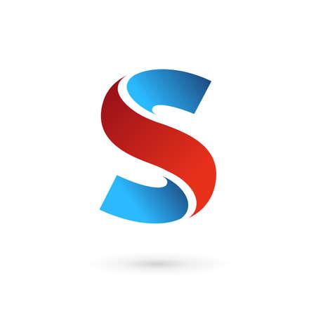 lettre s: Icônes, logos les éléments du modèle de conception de lettre Illustration