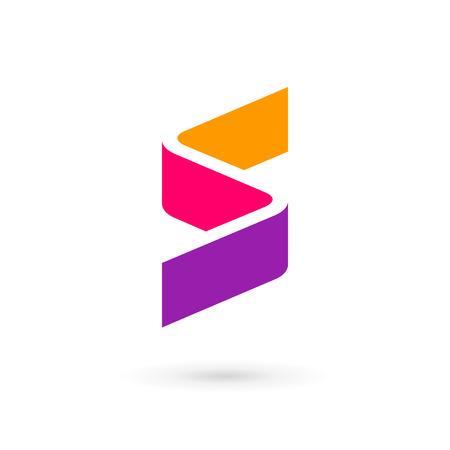 Letter S logo pictogram ontwerp sjabloon elementen Stock Illustratie