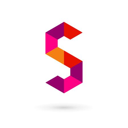 lettre s: Mosaïque icônes, logos les éléments du modèle de conception de lettre