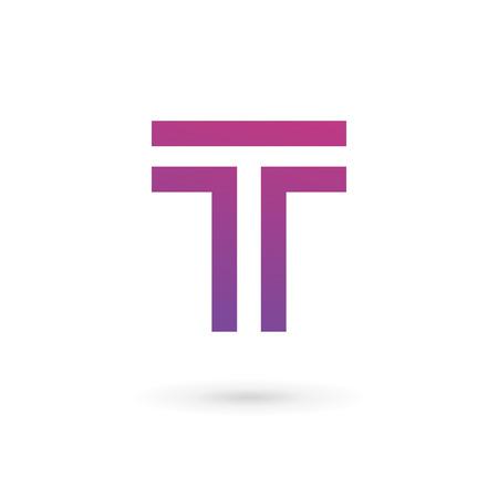 Letter T logo icon design template elements Illustration