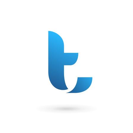 logo informatique: Icônes, logos éléments Lettre T de modèle de conception