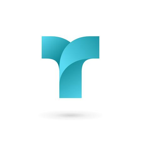 Letter T logo icon design template elements Illusztráció