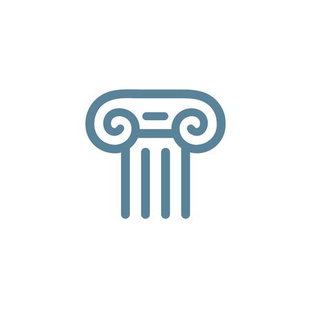 Letter T Romeinse zuil logo icon design template elementen