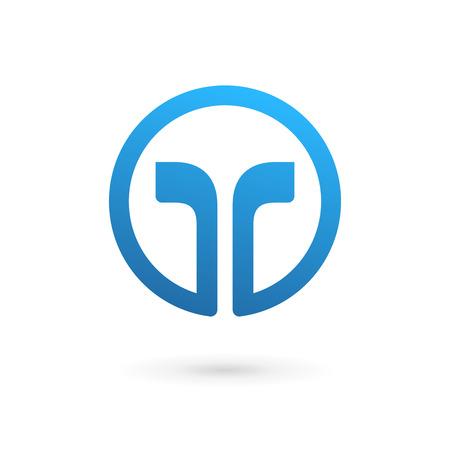 carta: Letra T logo icono elementos de plantilla de diseño