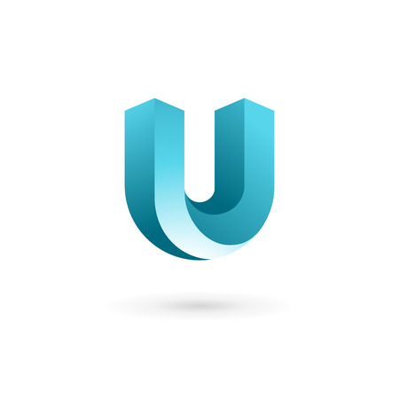 letter art: Letter U logo icon design template elements