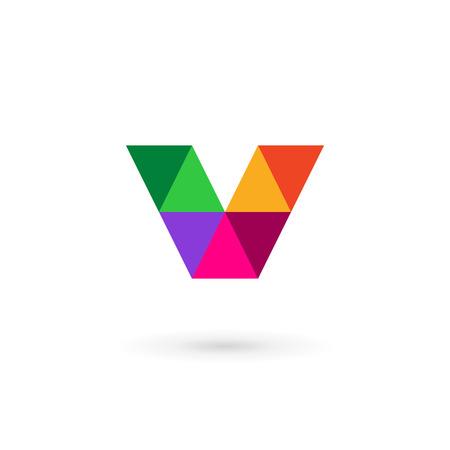 v shape: Letter V mosaic logo icon design template elements
