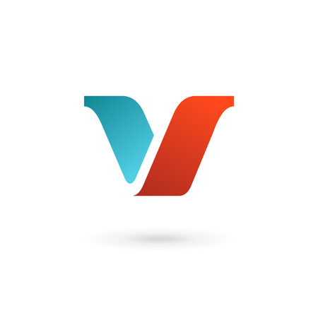 Letter V logo icon design template elements Vectores