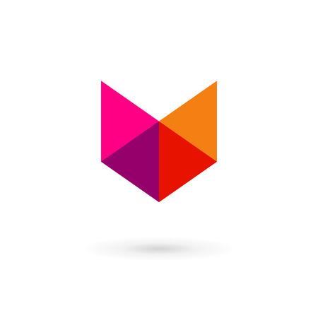 letter v: Letter V mosaic shield logo icon design template elements