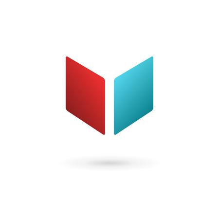Livre cube icônes, logos éléments de modèles de conception Lettre V
