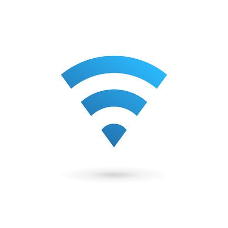 wifi sign: Letter V wireless logo icon design template elements Illustration