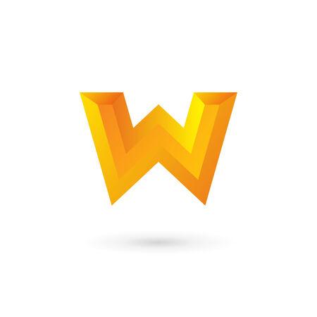 letter w: Letter W icon design template elements Illustration