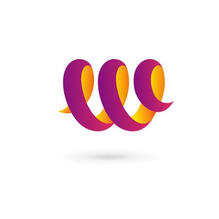 letter w: Letter W logo icon design template elements Illustration