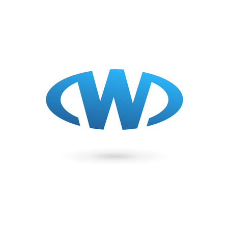 Letter W icon design template elements Illustration