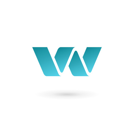 Letter W logo icon design template elements Çizim
