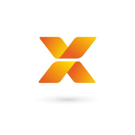 logo informatique: Lettre X éléments de modèle logo icône du design Illustration