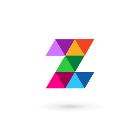 Letter Z mosaic logo icon design template elements