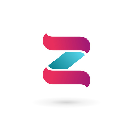 number two: Letter Z logo icon design template elements Illustration