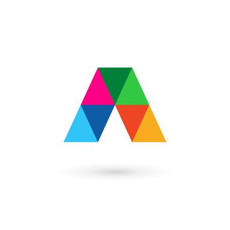 elementos: Logo icono elementos de plantilla de dise�o Letra A mosaico Vectores