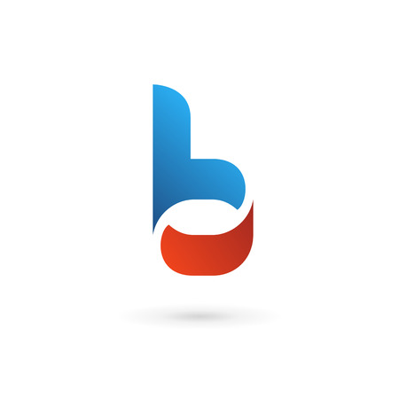 letter of the alphabet: Letter B icon design template elements