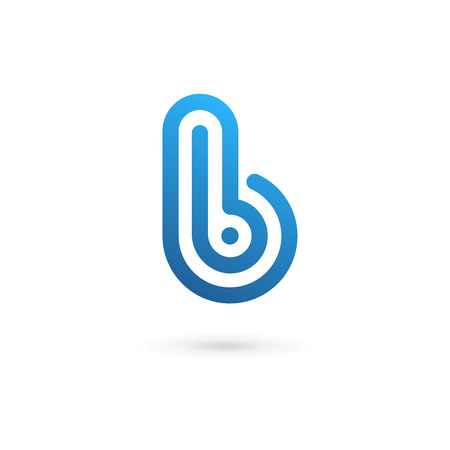 b: Letter B icon design template elements