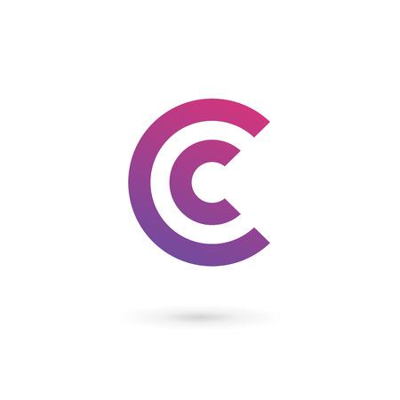 Icônes, logos éléments de modèles de conception Lettre C