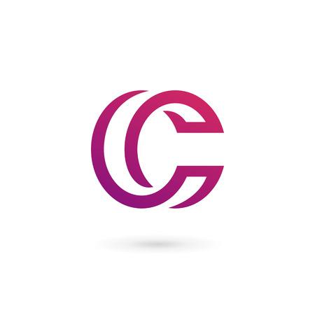 手紙 C ロゴ アイコンのデザイン テンプレートの要素