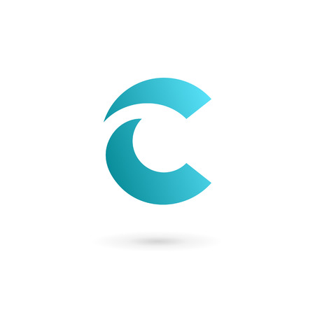 web design template: Letter C logo icon design template elements Illustration