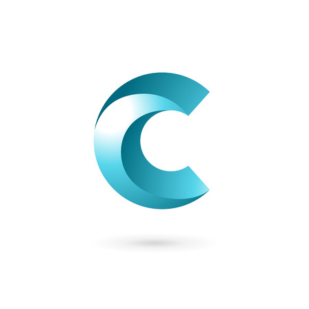 arrow icon: Letter C logo icon design template elements Illustration