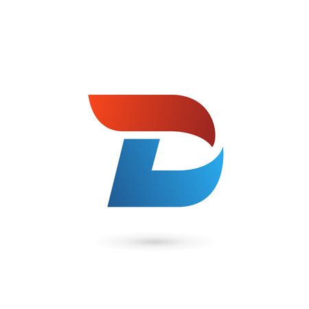 d: Letter D icon design template elements