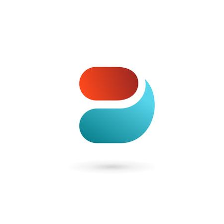 a d: Letter D icon design template elements