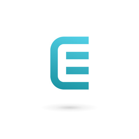e card: Letter E icon design template elements