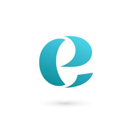 문자 E 로고 아이콘 디자인 서식 파일 요소