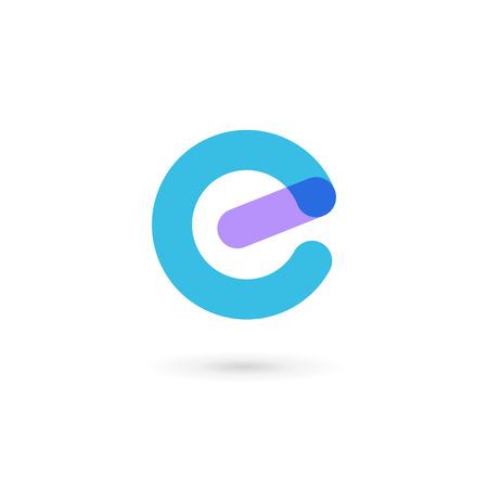 Letter E icon design template elements
