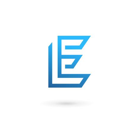fonts vector: Letter E logo icon design template elements