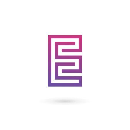 e marketing: Letter E icon design template elements