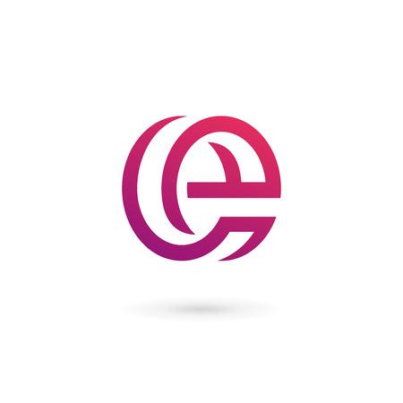 czcionki: Litera E logo ikony elementy projektowania szablonów Ilustracja