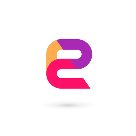 letter: Letter E icon design template elements