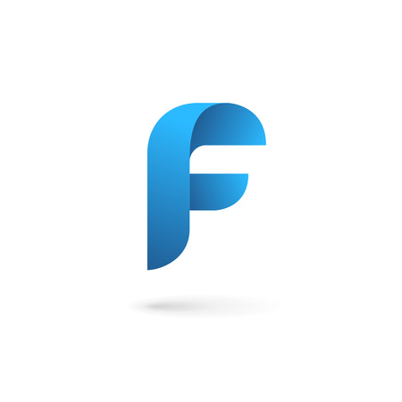 abstract logos: Letter F logo icon design template elements