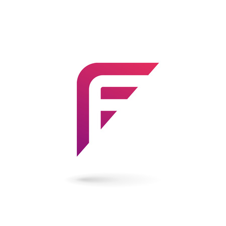 letter: Letter F icon design template elements Illustration